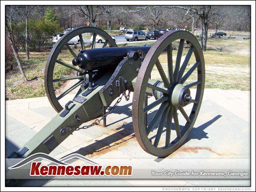 Civil War Cannon outside the visitor center