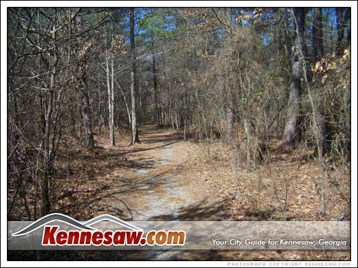 a trail near Kennesaw Mountain