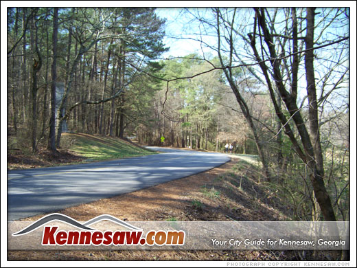 road to the top of Kennesaw Mountain