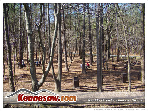 A picnic in the park is a popular activity at Kennesaw Mountain