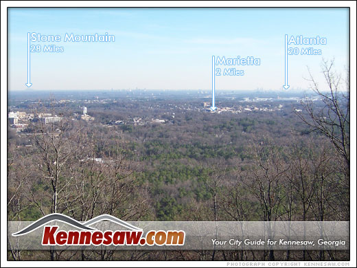the top of Kennesaw Mountain