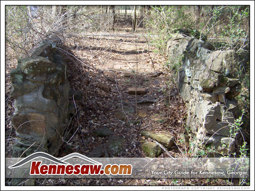 Old stone bridge near the Kennesaw Mountain trail
