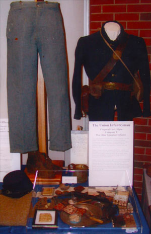 Complete Civil War Soldier Uniform and Personal Items